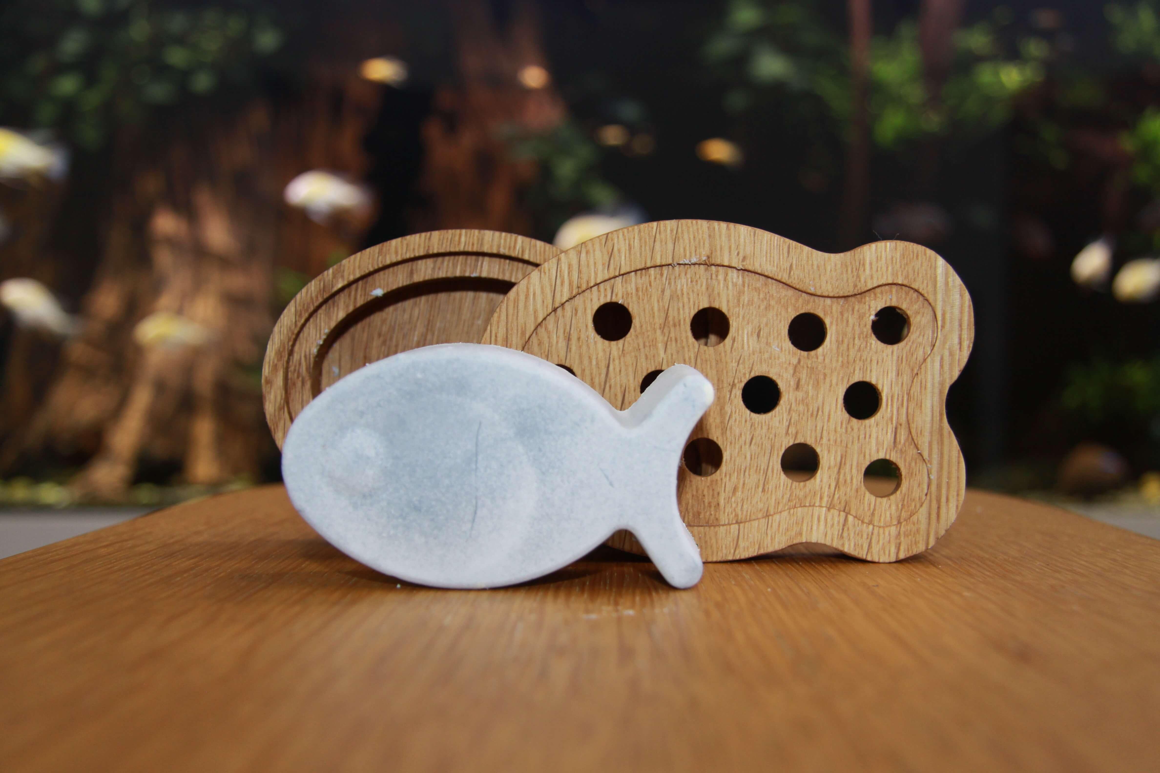 Jöst Handseife mit Holzschale Guppy